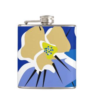 CHIC FLASK_BOLD BLUE PANSY FLASK
