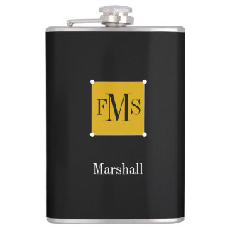 CHIC FLASK_GOLD/WHTE/BLACK FLASK