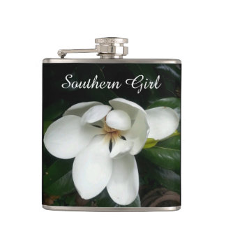 "CHIC FLASK_""Southern Girl"" _MAGNOLIA Flask"