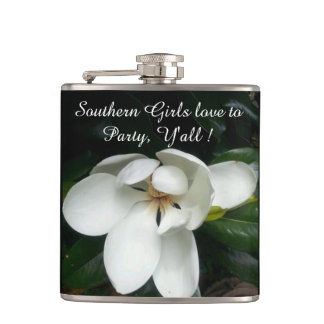 "CHIC FLASK_""Southern Girls"" _MAGNOLIA Flask"
