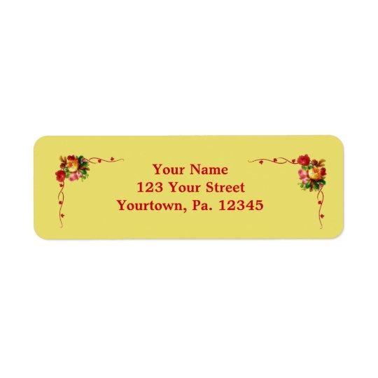 Chic Floral Address Label