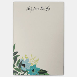 Chic Floral Border Monogram Post-it® Notes