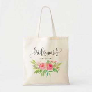 Chic Floral Bridesmaid -1 Tote Bag