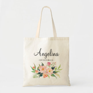Chic Floral Bridesmaid Personalized-3