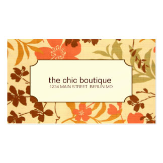 Chic Floral Business Cards