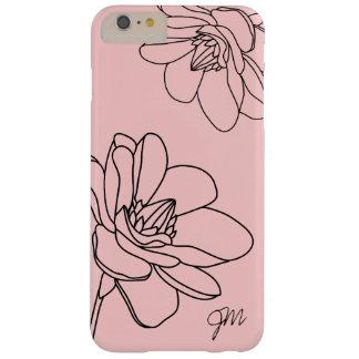 Chic Floral Monogram iPhone 6/6S Plus Case - Pink