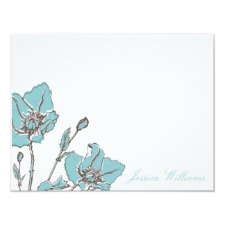 Chic Floral Note Cards 11 Cm X 14 Cm Invitation Card