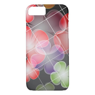Chic Floral Pattern on Black Background iPhone 8/7 Case