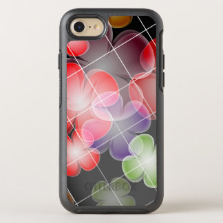 Chic Floral Pattern on Black Background OtterBox Symmetry iPhone 8/7 Case