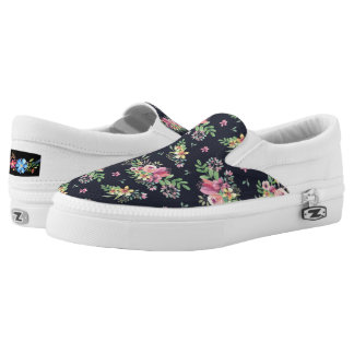 Chic Floral Pattern Slip-On Shoes US-Women