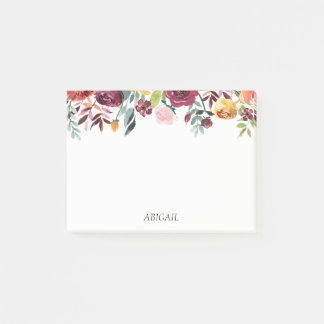 Chic Floral Personalised Post-it Notes