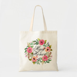 Chic Floral Wreath Maid of Honor-3