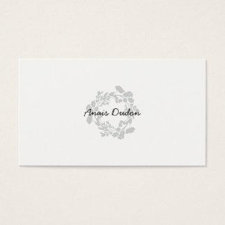 ★ Chic Flower Elegant Business Card