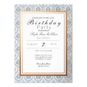 French birthday invitations zazzle chic french art deco birthday party invite stopboris Choice Image