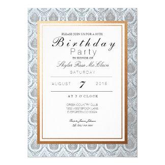 Chic French Art Deco Birthday Party Invite