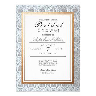 Chic French Art Deco Bridal Shower 14 Cm X 19 Cm Invitation Card