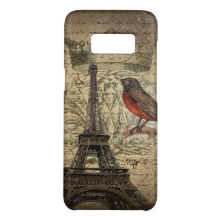 Chic French Bird Modern Vintage Paris Eiffel tower Case-Mate Samsung Galaxy S8 Case