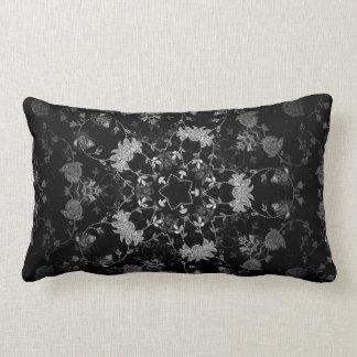 Chic French Damask Polyester Throw Pillow, Lumbar Cushion