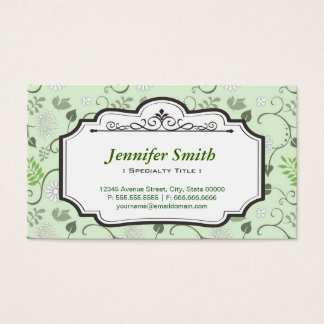 Chic Fresh Leaves Green - Simple Elegant Floral Business Card