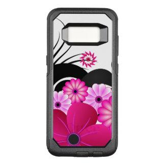 Chic Fuchsia Magenta Pink Floral Hibiscus Flowers OtterBox Commuter Samsung Galaxy S8 Case