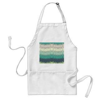 Chic Funky Chevron Zigzag Colorful Vibrant Pattern Apron
