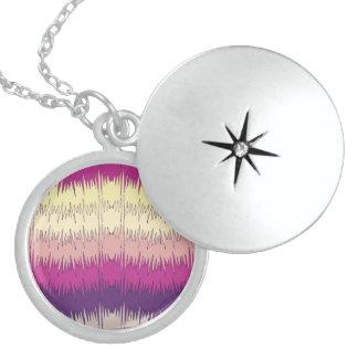 Chic Funky Chevron Zigzag Colorful Vibrant Pattern Pendant