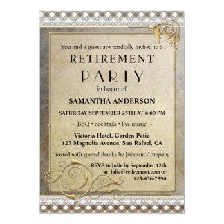 Chic Gatsby BBQ Retirement Party Invitation