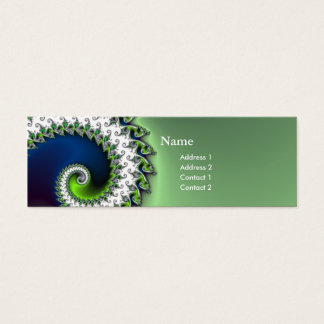 chic geek fractal curly profile card