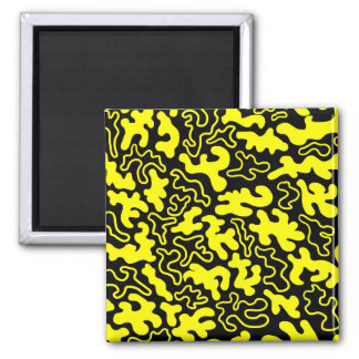 """""""Chic Germs - Black & Gold"""" Square Magnet"""