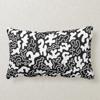 """Chic Germs - Black & White"" Lumbar Pillow"