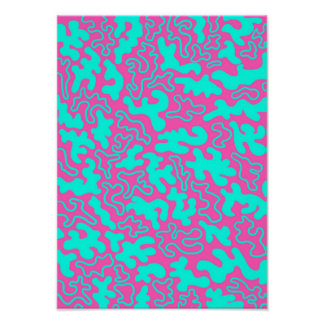 """""""Chic Germs - Pink & Teal"""" Poster"""