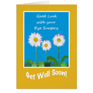 Chic Get Well Card, Eye Surgery, Daisies