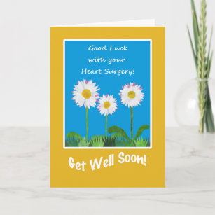 Heart Surgery Gifts Get Well Cards - Well Wishes Cards   Zazzle com au