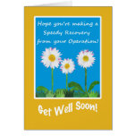 Chic Get Well Card, Operation or Surgery, Daisies Greeting Card