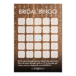 Chic Glitter Gold String 5x5 Bridal Bingo Cards 9 Cm X 13 Cm Invitation Card