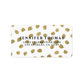 Chic Gold Address Labels