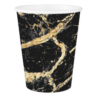 Chic Gold and Black Marble Pattern