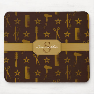 Chic Gold & Coco Brown - Custom Mousepad