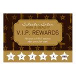 Chic Gold & Coco Brown Salon Loyalty Rewards Card