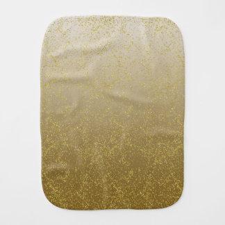 Chic Gold Confetti Sparkles Burp Cloths