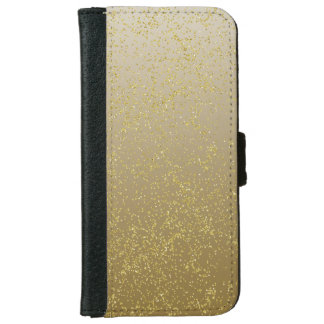 Chic Gold Confetti Sparkles iPhone 6 Wallet Case