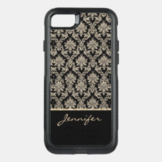 Chic Gold Damask Sparkle OtterBox Commuter iPhone 7 Case