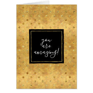 Chic Gold Dots Amazing Card