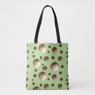 Chic Gold Dots bling bag for beach or shopping