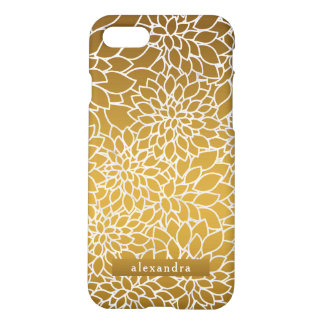 Chic Gold Flowers Pattern iPhone 8/7 Case