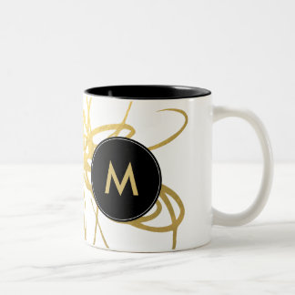 Chic Gold Foil Effect BrushstrokesCoffee Mug - Cup