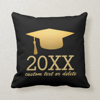 Chic Gold Foil Trendy Graduation Class of 2017 Cushion