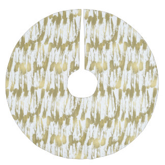 Chic Gold Glam Abstract Brushed Polyester Tree Skirt