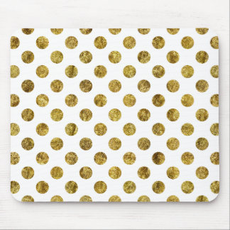Chic Gold Glam Dots Mouse Pad