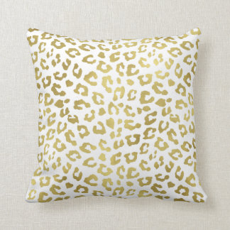 Chic Gold Glam Leopard Print Cushion